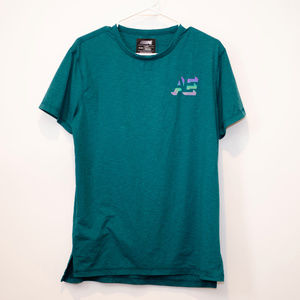 AE Active Flex Teal T-shirt with Holographic Logo